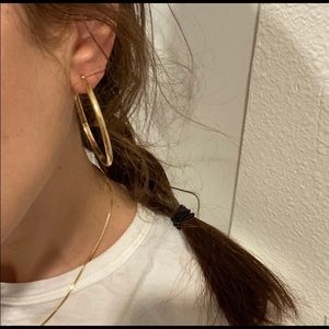 10k solid gold hoop earrings